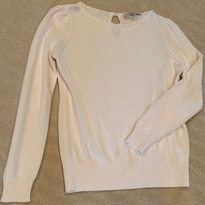 (2/$25) Ann Taylor LOFT White Cotton Sweater